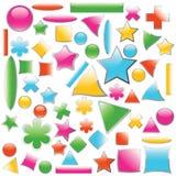 Conjunto de botones del color - vector Imagen de archivo
