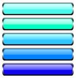 Conjunto de botones del metal Imágenes de archivo libres de regalías