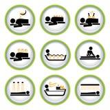Conjunto de botones del pictograma de Wellness&Spa I Imágenes de archivo libres de regalías