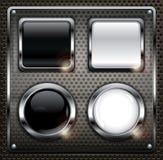 Conjunto de botones del Web Fotos de archivo libres de regalías