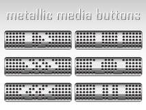 Conjunto de botones metálicos Fotografía de archivo