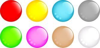 Conjunto de botones redondos Imagen de archivo