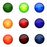 Conjunto de botones redondos del Web site Foto de archivo libre de regalías