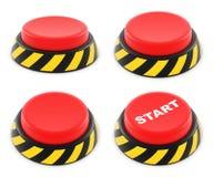Conjunto de botones rojos Fotos de archivo