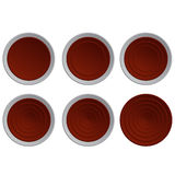 Conjunto de botones rojos ilustración del vector