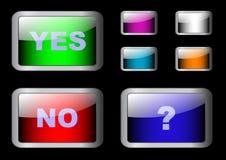 Conjunto de botones sí/no. vector eps10. Fotografía de archivo libre de regalías