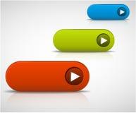Conjunto de botones vacíos stock de ilustración