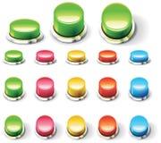 Conjunto de botones vacíos brillantes Fotografía de archivo libre de regalías