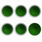 Conjunto de botones verdes Fotografía de archivo