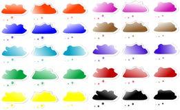 Conjunto de burbujas de la nube del discurso Foto de archivo libre de regalías