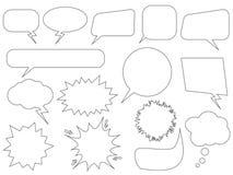 Conjunto de burbujas del discurso stock de ilustración
