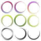 Conjunto de círculos abstractos Foto de archivo libre de regalías
