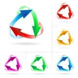 Conjunto de círculos de la flecha ilustración del vector