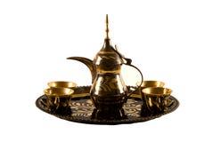 Conjunto de café árabe Fotos de archivo libres de regalías