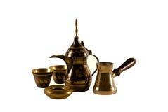 Conjunto de café árabe Fotografía de archivo libre de regalías