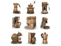 Conjunto de café stock de ilustración