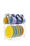 Conjunto de café coloreado Imágenes de archivo libres de regalías