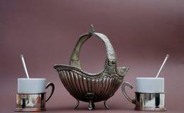 Conjunto de café turco Fotografía de archivo libre de regalías