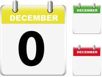 Conjunto de calendarios Fotografía de archivo libre de regalías