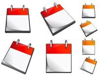 Conjunto de calendarios Foto de archivo libre de regalías