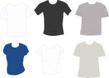 Conjunto de camisetas foto de archivo libre de regalías