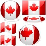 Conjunto de Canadá Imágenes de archivo libres de regalías