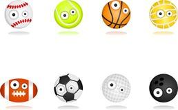 Conjunto de caracteres de la bola Fotografía de archivo