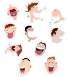 Conjunto de caras de risa Fotografía de archivo libre de regalías
