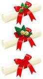Conjunto de cartas de la Navidad Imágenes de archivo libres de regalías