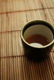 Conjunto de cena asiático - taza de té japonés fotografía de archivo libre de regalías