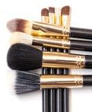 Conjunto de cepillo del maquillaje Foto de archivo libre de regalías