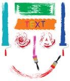 Conjunto de cepillos Contexto para el texto Imágenes de archivo libres de regalías