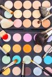 Conjunto de cepillos del maquillaje Fotos de archivo