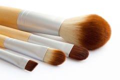 Conjunto de cepillos del maquillaje Fotos de archivo libres de regalías