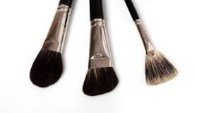 Conjunto de cepillos del maquillaje aislados Imagen de archivo libre de regalías
