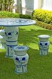 Conjunto de cerámica del jardín Fotografía de archivo libre de regalías