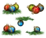 Conjunto de chucherías de la Navidad Fotos de archivo libres de regalías
