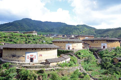 Conjunto de Chuxi Tulou imagens de stock