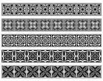 Conjunto de cinco fronteras del art déco Imágenes de archivo libres de regalías