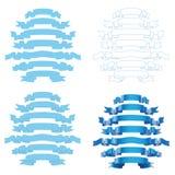 Conjunto de cintas azules Imágenes de archivo libres de regalías