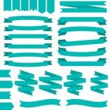 Conjunto de cintas azules ilustración del vector