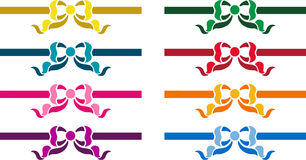 Conjunto de cintas coloridas ilustración del vector