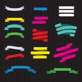 Conjunto de cintas del color Foto de archivo libre de regalías