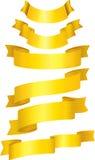 Conjunto de cintas del oro. Imagen de archivo
