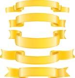 Conjunto de cintas del oro del vector. Imagenes de archivo