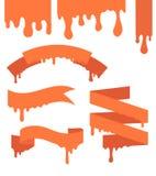 Conjunto de cintas del vector Foto de archivo