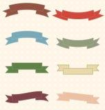 Conjunto de cintas retras. Imágenes de archivo libres de regalías