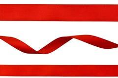 Conjunto de cintas rojas Fotografía de archivo