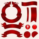 Conjunto de cintas rojas Libre Illustration