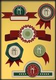 Conjunto de cintas y de escrituras de la etiqueta. Ejemplo del vector. Fotos de archivo